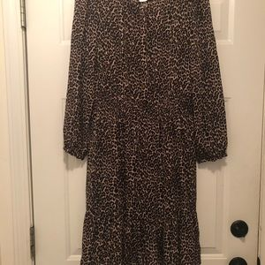 J. Crew leopard print dress with camisole liner M